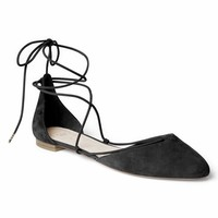 Suede lace-up d'Orsay flats | Gap