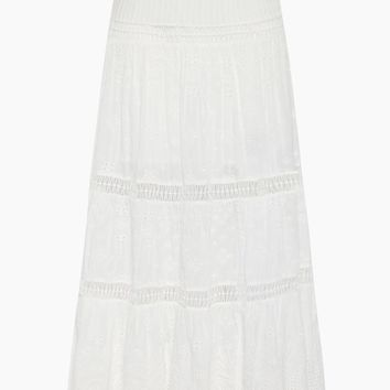 Xanthe High Waist Maxi Skirt - White