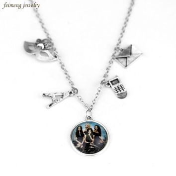 Television Soundtrack Pretty Little Liar Charm Necklace Got A Secret Can You Keep It Message Mask Pendant Necklace