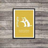 Hufflepuff Minimalist Poster | House poster | Harry Potter Poster |  Kids room decor | Harry Potter art