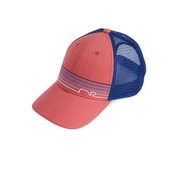 Vineyard Vines, Whale Line Trucker Hat, Jetty Red