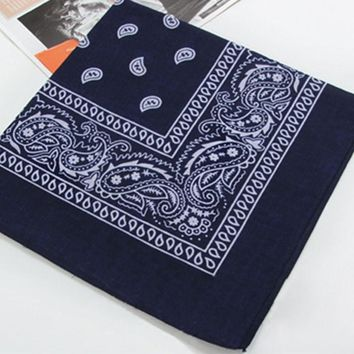Cotton Paisley Bandana Head wrap Head Wrap Neck Scarf Wristband Handkerchief