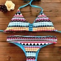 Geometric Print Brazilian Swimsuit