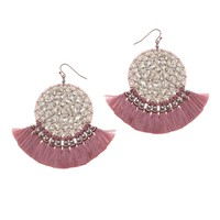 Mavis Gem Tassel Earrings