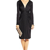 DVF Ruched V-neck Dress
