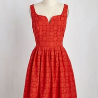 Don't Spin It All in One Place Dress in Red | Mod Retro Vintage Dresses | ModCloth.com
