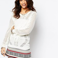 Only Fringe Detail Long Knit Tunic