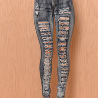 Ripped Vintage Jeans - Dark Blue