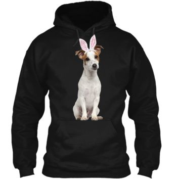 Jack Russell Wearing Easter Bunny Ears Dog T-Shirt Pullover Hoodie 8 oz