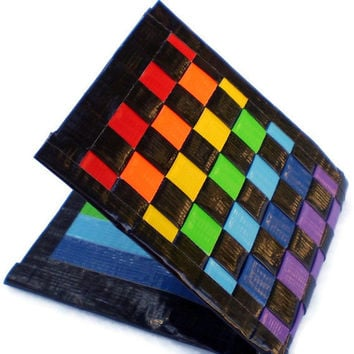 Duct Tape Wallet - Double Rainbow Purple