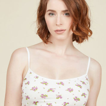 Try This on for Sighs Bralette in Roses | Mod Retro Vintage Underwear | ModCloth.com