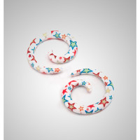 Blue and Red Stars Spiral Set