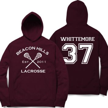 Whittemore 37 Teen Wolf Beacon Hills Inspired Lacrosse Hoodie