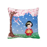 Cherry Blossoms Pillows from Zazzle.com
