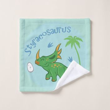 Cute Styracosaurus Wash Cloth