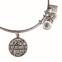 Alex and Ani Let Creativity Rule Expandable Wire Bangle Rafaelian Silver