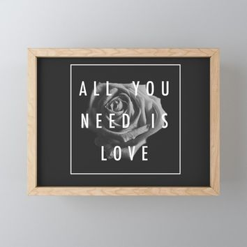 Needy Framed Mini Art Print by duckyb