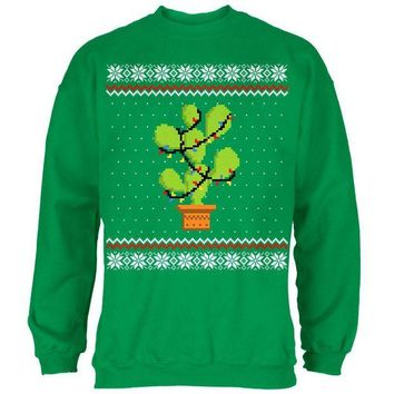 ONETOW Cactus Prickly Pear Tree Ugly Christmas Sweater Mens Sweatshirt