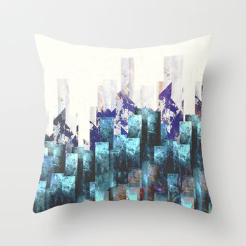 Cold cities Throw Pillow by HappyMelvin