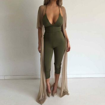 Bodycon Backless Jumpsuit