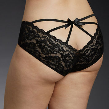 Black Caged Lace Panty