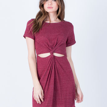 Twist Front T-Shirt Dress