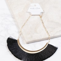 Statement Bib Necklace, Black