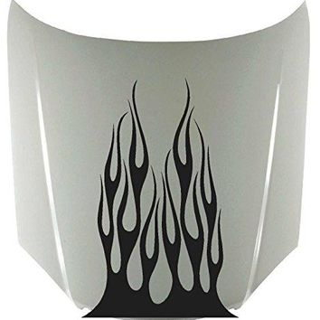 Tribal Flame Fire Car Decals Hood Decal Vinyl Sticker Auto Decor Graphic Kit Aftermarket Stickers HF10