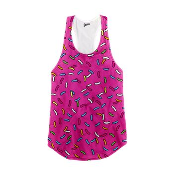 Pink Frosting Donut  Racerback Tank Top