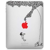 The Giving Tree w/ Red Apple iPad Decal skin sticker