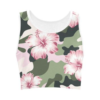 Pretty In Camouflage Camo Crop Top For Women