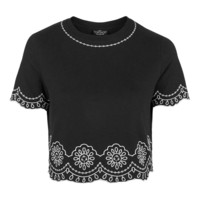 PETITE Embroidered Hem Tee - New In This Week - New In