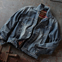 Benchmark Denim Jacket-Carbon 2 Cobalt