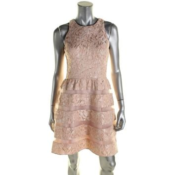 Aidan by Aidan Mattox Womens Sleeveless Lace Party Dress