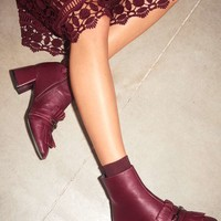 MAXIMUM Fringe Loafer Boots - Topshop