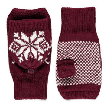 Fair Isle Convertible Gloves