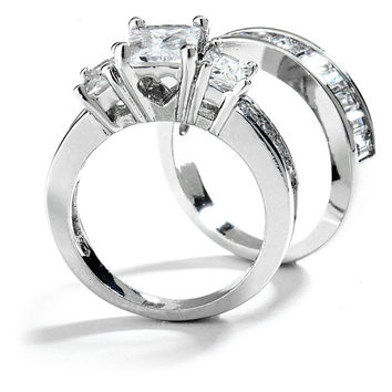 Best 3 Stone Engagement Ring Settings Products on Wanelo 3f54aa828917