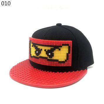 New Puzzle games blocks DIY legos baseball hat bob marley hats Jamaican Rasta style snapback hat for men and women detachable