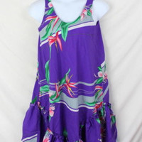 Sand Pebble Hawaii Dress M size Womens Purple Summer Vacation Tank Loose Light