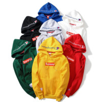 """""""Supreme""""""""Champion""""Contracted hooded sweater(7-color)"""