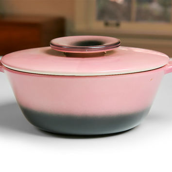 Vintage Hull Pottery 1950s Pink and Black Covered Casserole Dish / Divided Dish / Hull USA Housewarming Gift / Mid Century Home Decor