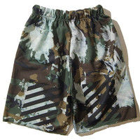 Off White Forest Camo Couturé Shorts
