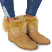 Serlin Shearling Suede Booties