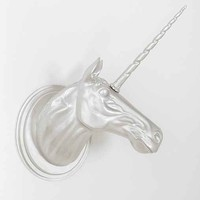 Unicorn Head Wall Sculpture- Silver One