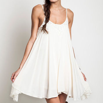 Chantilly Lace Dress- Ivory