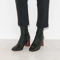 Helmut Lang Midcalf Stretch Boot in Black | The Dreslyn