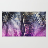 Faded Jeans Rug by Bunhugger Design
