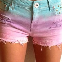 Pastel Fade Shorts from ayeshadann