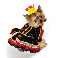 Royal Queen of Hearts Dog Costume - Large