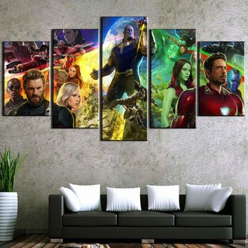 5 Piece HD Print Large Avengers Infinity War Modern Decorative Paintings on Canvas Wall Art for Home Decorations Wall Decor